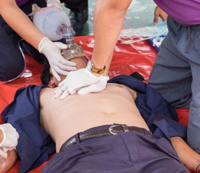 CPR after smoke inhalation - Fire door safety & course, Essex