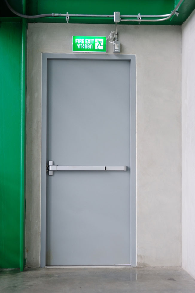 Emergency exit - Fire door safety at Select Safety Services Essex