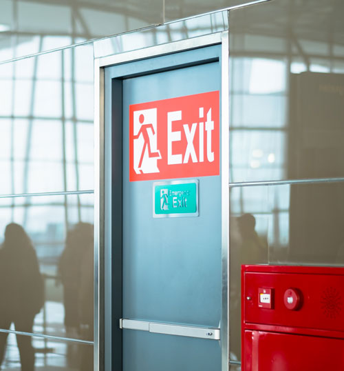 Emergency Fire Exit - Fire Safety, fire door safety training at Select Safety Services Essex